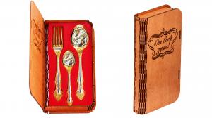 Набор Тройка-люкс в деревянной коробке